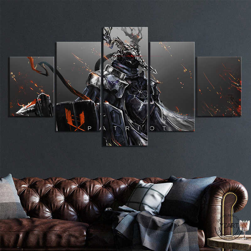 Patriot Arknights Armor Horns Demon Spear Shield Anime Games Poster Woonkamer Decoratie Home Decor Painting Calligraphy Aliexpress