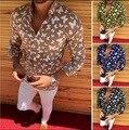 'Camisa masculina 3d impressão borboleta linho casual de manga comprida camisa de lapela masculina camisa de impressão