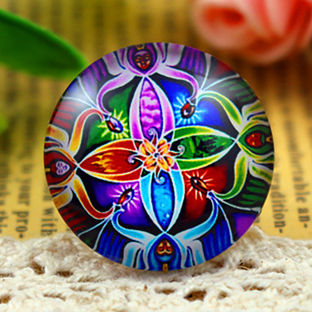 New Fashion  5pcs/Lot 25mm Handmade Photo Glass Cabochons  Bright F3-02