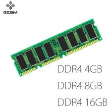 GZSM Desktop Memory DDR4 4GB 8GB 16GB for PC4-17000P PC4-19200T PC4-2666V PC4-3200V Memory Cards 2133MHZ 2400MHZ 2666MHZ 3200MHZ memory 805669 b21 8gb 2rx8 pc4 2133p one year warranty