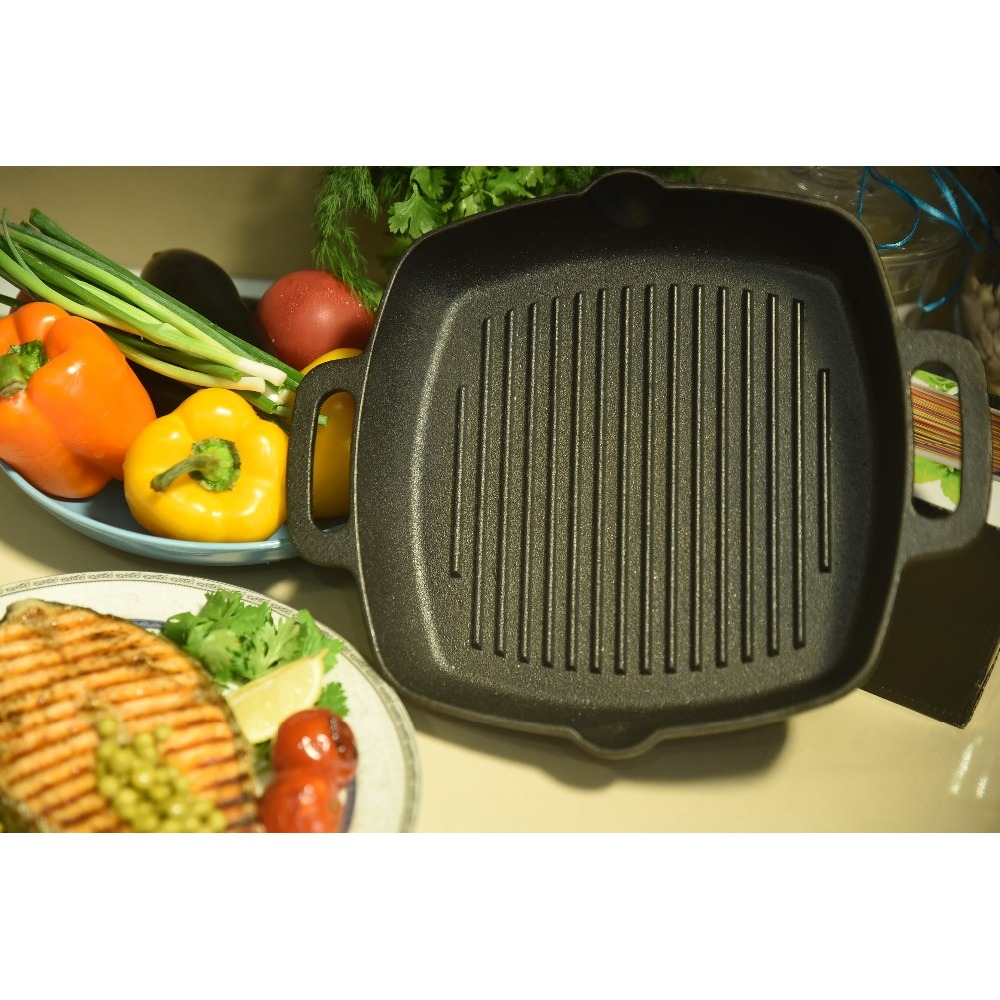 FRYING PAN GRILL CAST IRON Thermos Knife Silicone Mold Mug Plate Diamond Embroidery Pots Pans Set Sale Disdiscount 808-004