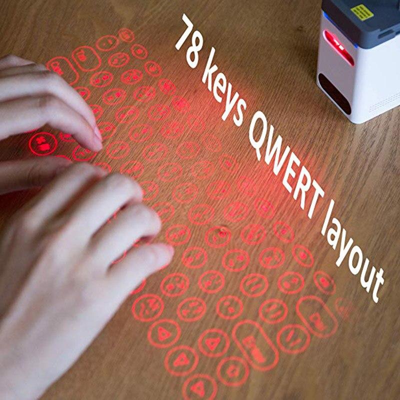 Clavier de Projection de Lasers Bluetooth de haute qualité pour téléphone portable avec souris support de téléphone portable fonction d'alimentation Mobile