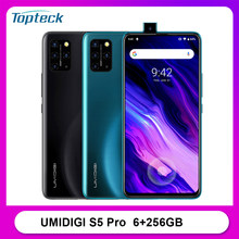 Umidigi s5 pro 4g smartphone 6.39 polegada fhd + 6gb 256gb android 10 4680mah 48mp quad cam in-screen impressão digital desbloquear telefone móvel