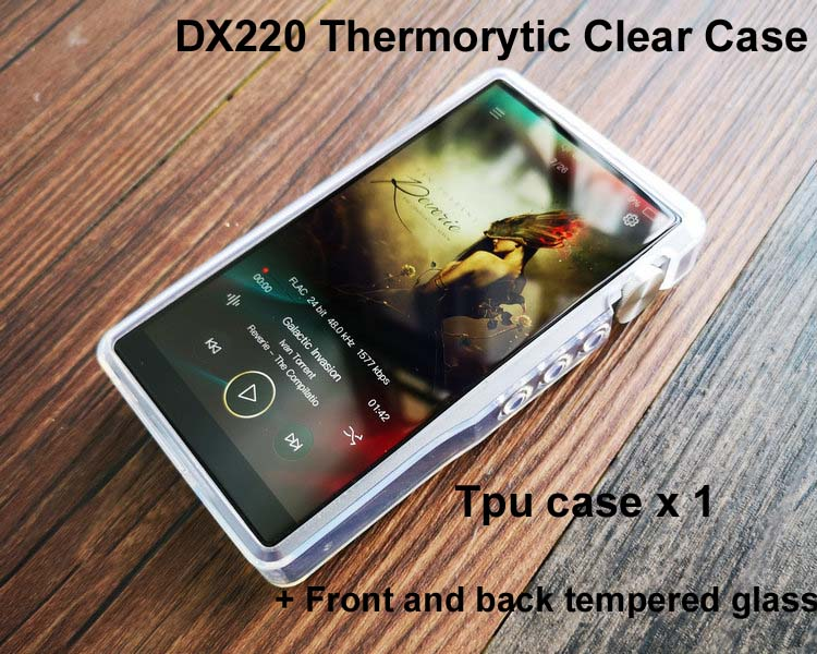 Screen-Protector Back DX220 Tpu Case Tempered-Glass For IBASSO Clear With And