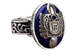 #60 diário quente do vintage d salvatore damon stefan dedo família anel moita anéis do punk lapis lazuli azul cristal jóias eua liga