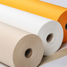 Chinese Rice Paper Thicken 50/100m Half-Ripe Gold Foil Xuan Paper Chinese Painting Calligraphy Rolling Landscape Raw Rice Paper