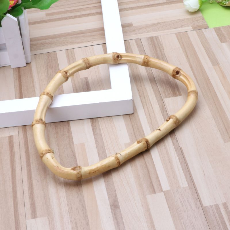 2020 New D Shape Bamboo Handle For Handmade Handbag DIY Tote Purse Frame Making Bag Hanger
