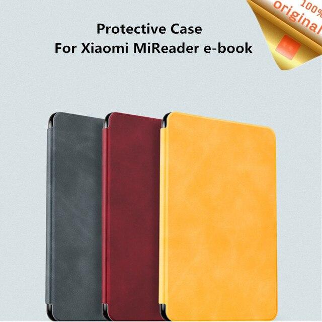 Youpin MoAn Schutzhülle Für Xiaomi MiReader e book Automatische Zurück Saug Leder Abdeckung Für Xiaomi ebook Schutzhülle