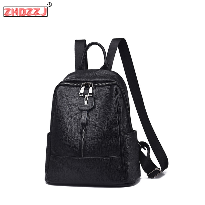 Fashion Women Backpack Designer High Quality Women Bag 2019 New Leather PU School Bags Large Capacity Backpacks Travel Bags