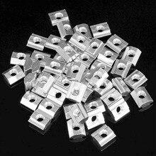 50 шт M5 T раздвижные гайки Зин-покрытием из углеродистой стали т раздвижные гайки для алюминиевого профиля