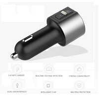 Kingslims coche manos libres inalámbrico Bluetooth coche Kit coche Audio FM Transmisor MP3 reproductor USB cargador FM modulador accesorios para coche