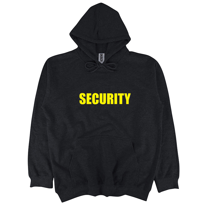 DOORMAN CLOTHING SECURITY BLACK HOODIE ALL SIZES STAFF PRINTED WORKWEAR