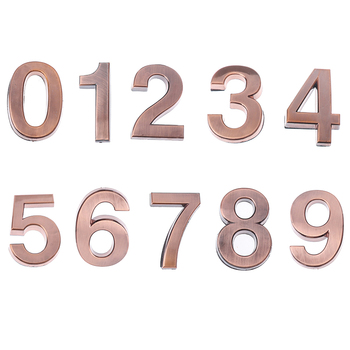 New Plastic Bronze Self- Adhesive 0-9 Door Numbers Customized House Address Signs image