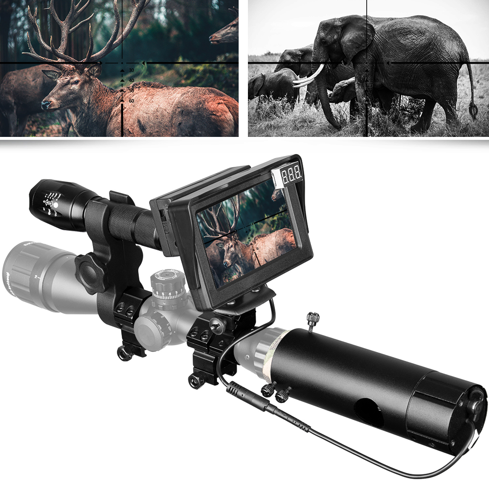850nm Infrared DIY Night Vision Device Scope Sight Day Night Outdoor Dual Use LCD Screen Laser