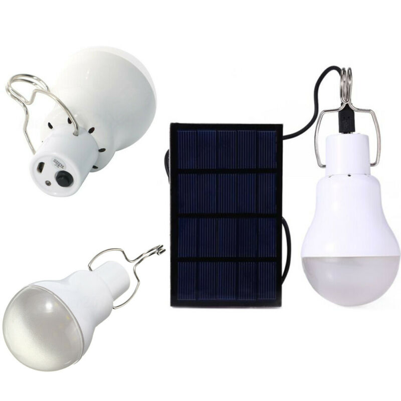 Portable LED Solar Lamp Charged Solar Energy Light Panel Powered Emergency Bulb For Outdoor Garden Camping Tent Fishing