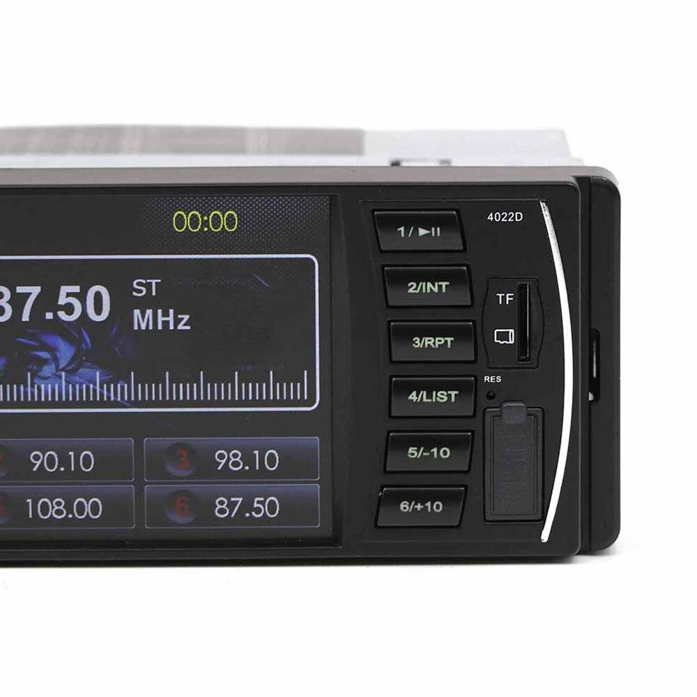 Vehemo 4.1 pouces Auto MP5 lecteur voiture Bluetooth MP5 MP3 volant télécommande vue arrière automobile FM Radio - 4