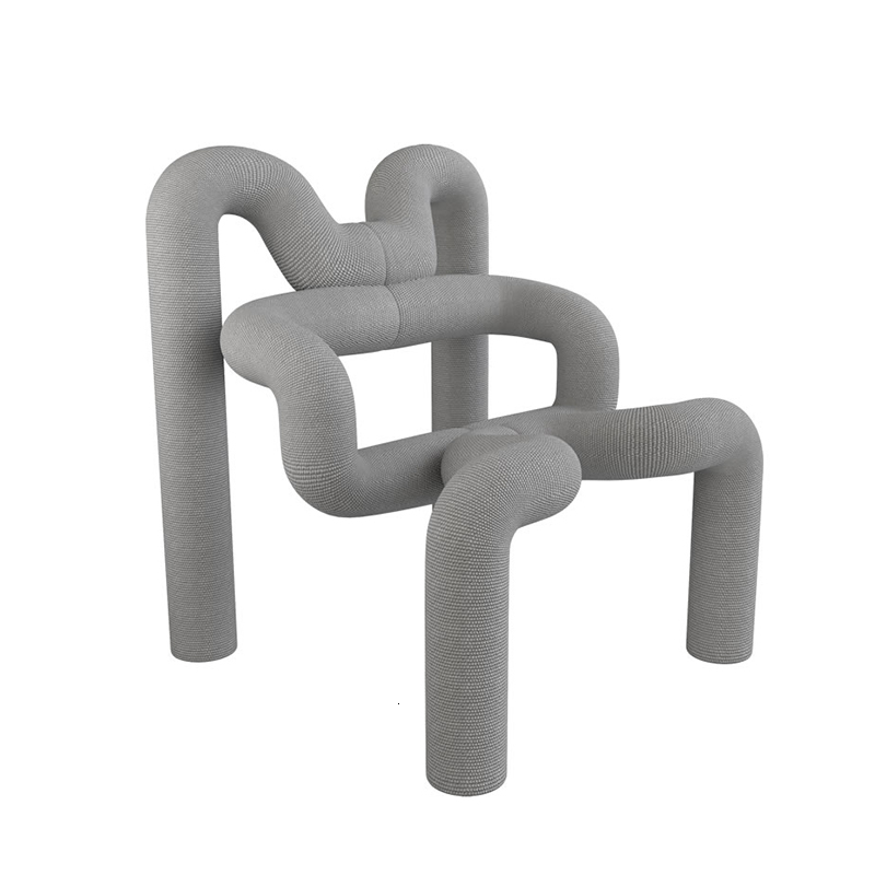 Sketch Furniture Simplicity Individualization Handrail Special-shaped Designer Restaurant Ins Originality Kitchen Table Chair