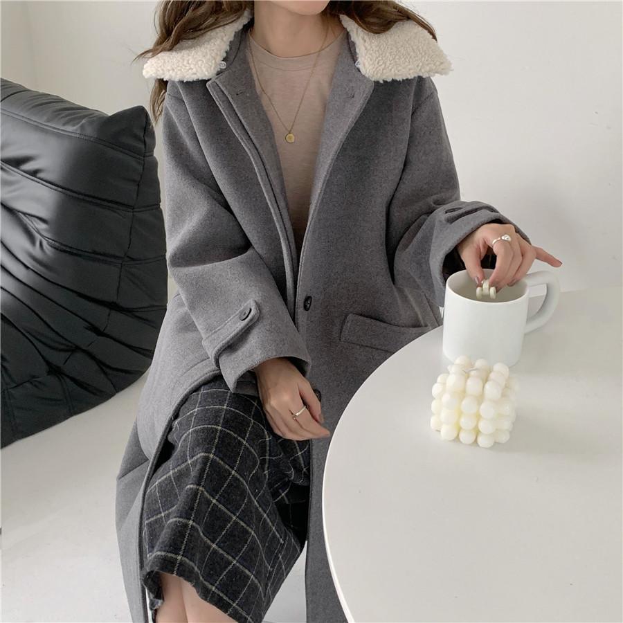Зимние женские свободные chic верхняя одежда Повседневный Кардиган