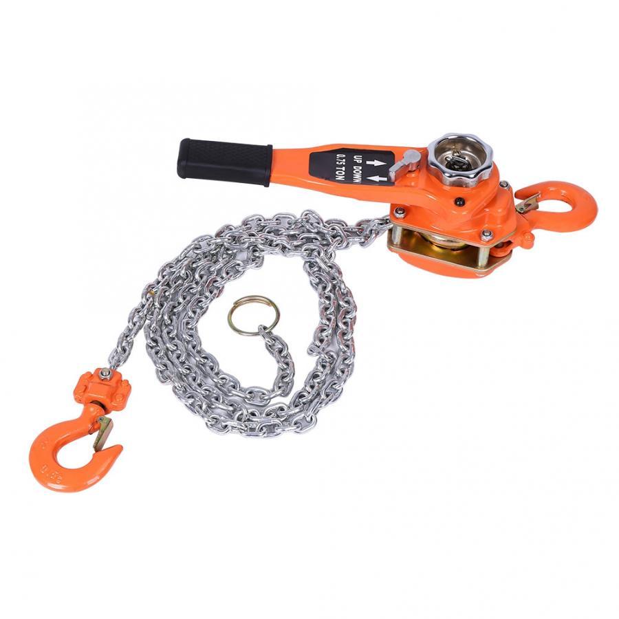 2 Ton Chain Puller Heavy Duty Automotive 75 Inch Hoist Block Lift Pulley Tool