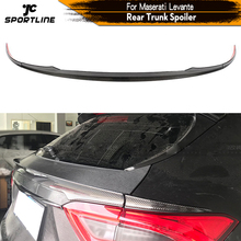 Rear Middle Trunk Spoiler Boot Lip Wing Spoiler For Maserati Levante 2016 - 2019 Carbon Fiber Rear Trunk Boot Lip Wing Spoiler