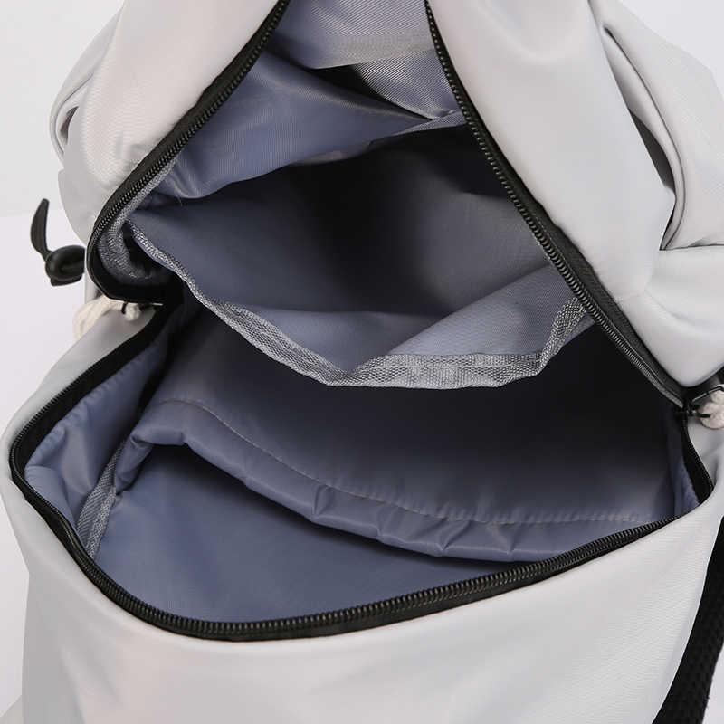 Nowi mężczyźni plecak na 15.6 cali plecak do laptopa 2020 o dużej pojemności plecaki Stundet plisowana, na co dzień stylowa torba wodoodporna