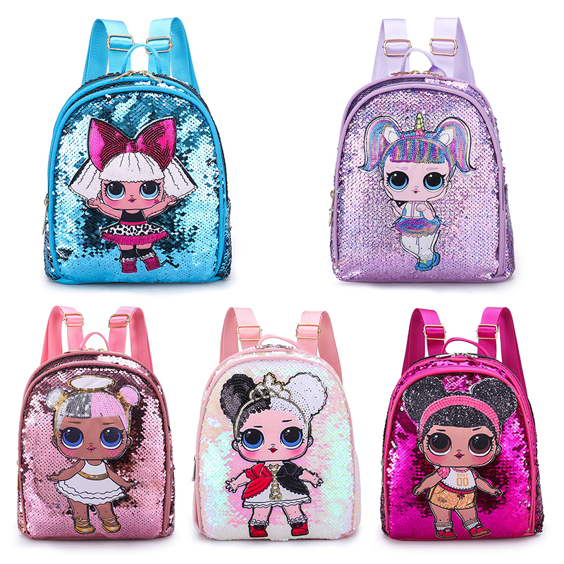 LOL Dolls SURPRISE Mochila Bag Children's School Cute Bag Plecak 3d Bag Cartoon Print Cute Anime Kids Backpack Kindergarten