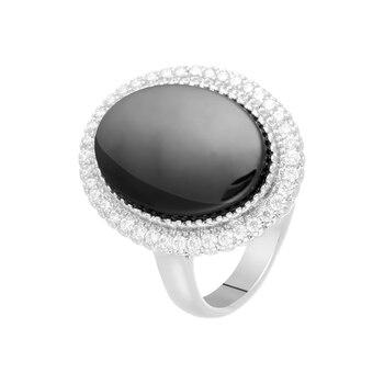 Кольцо из серебра с керамикой и фианитами R00746