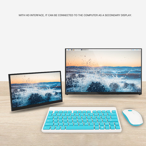 11.6 Inch Portable IPS HD Monitor Display Screen 1920*1080 Resolution with USB HD Power Interface for Raspberry Pi NVIDIA PC