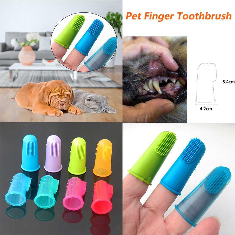 Super Zacht Huisdier Siliconen Vinger Tandenborstel Huisdier Tandheelkundige Zorg Tanden Cleaning Tool Draagbare Praktische Hond Kat Tand Schoonmaakproducten