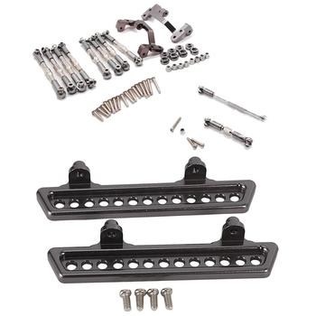 1set for WPL B1 B-1 B14 B-14 B24 B-24 C14 C-14 1/16 Metal Front Rear Axle Gear/Ball Pull Rod & 2PCS Upgrade Metal Pedal