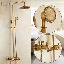 ELLEN Thermostatic Shower Faucets Antique Bronze Bathroom Bath Shower Hot Cold Water Tap Tub Spout Shower ELS4003H