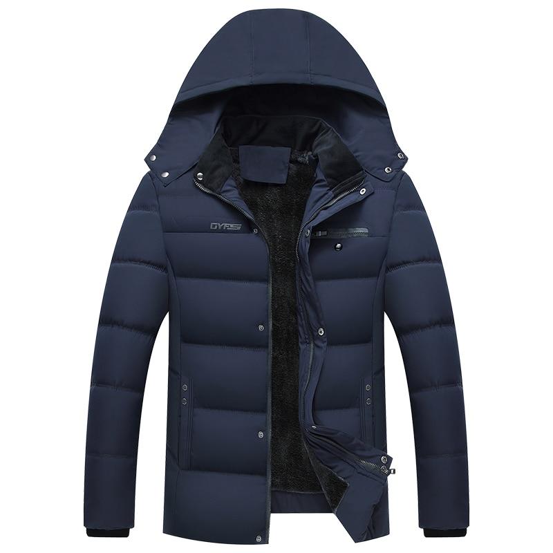 2019 New Winter Jacket Men -20 Degree Thicken Warm Men Casual Parkas Hooded Coat Fleece Man's Jackets Outwear Jaqueta Masculina
