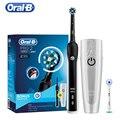 Oral B Pro2000 D20524 3D звуковое вращение умная электрическая зубная щетка отбеливание зубов перезаряжаемый Видимый датчик давления 2 режима