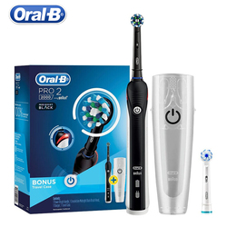 Oral B Pro2000 D20524 3D Sonic-Rotation Smart Electric Tooth brush Teeth Whitening Rechargeable Visible Pressure Sensor 2 Mode