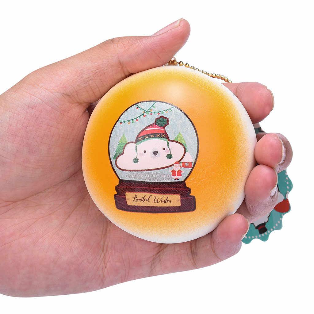 الكرتون رائعة بطيء ارتفاع الكرة رائعتين الخبز كعكة كعكة قلادة الاطفال هدية سحر Squishies ضغط اللعب الإجهاد الإغاثة دروبشيب