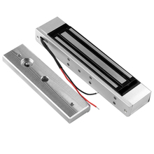 12V ควบคุมล็อค 180 KG/350lbs แม่เหล็กไฟฟ้าประตูล็อคอิเล็กทรอนิกส์ Holding Force กลางแจ้งแก้วไม้ประตู