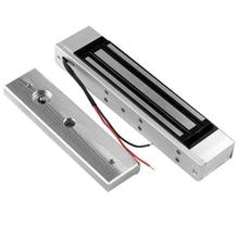 12V Access Control Lock 180 KG/350lbs Elektrische Magnetische Türschlösser Elektronische Haltekraft System Outdoor Glas Holz tür
