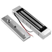 Verrouillage de porte magnétique électrique, contrôle daccès, 12V, 180KG /350lb, système de Force de maintien électronique, porte extérieure en verre en bois