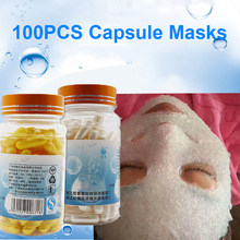 1Bottle = 100PCS Ice Cooling Capsule Mask Powder Collagen Protein Peptides Rejuvenation Shrink Pore Whitening Facial Mask(China)