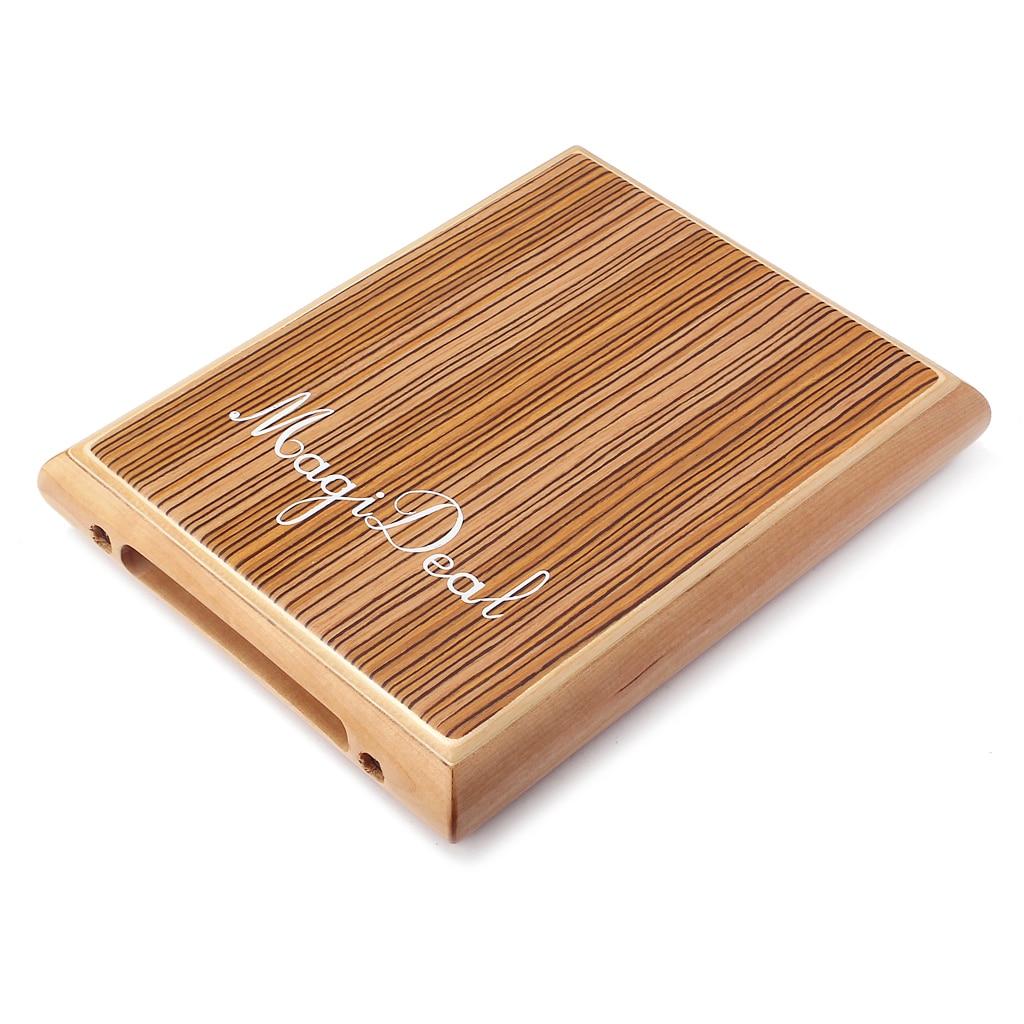 Batterie à main Cajón Instrument de musique à Percussion zèbre bois voyage Portable