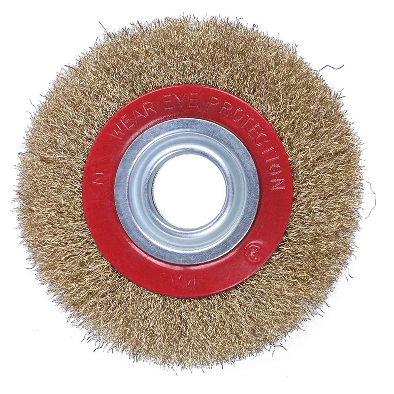 Wire Brush Wheel For Bench Grinder Polish + Reducers Adaptor Rings,6inch 150Mm
