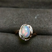 Ataullah New Fashion Natural Opal Gemstone Ring for Women Sterling 925 Silver Ring Charm Fine Jewelry Party Gift RW092 [meibapj natural aquamarine gemstone trendy ring for women real 925 sterling silver charm fine jewelry