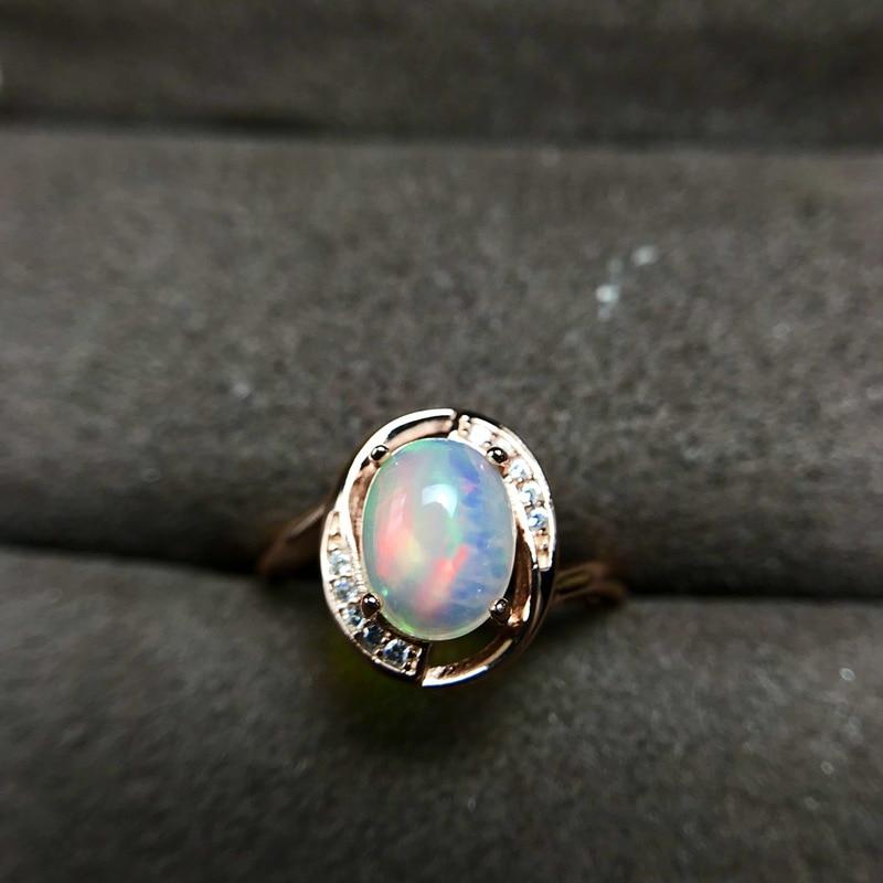 Ataullah nouvelle mode opale naturelle bague en pierres précieuses pour les femmes en argent Sterling 925 bague breloque Fine bijoux cadeau de fête RW092