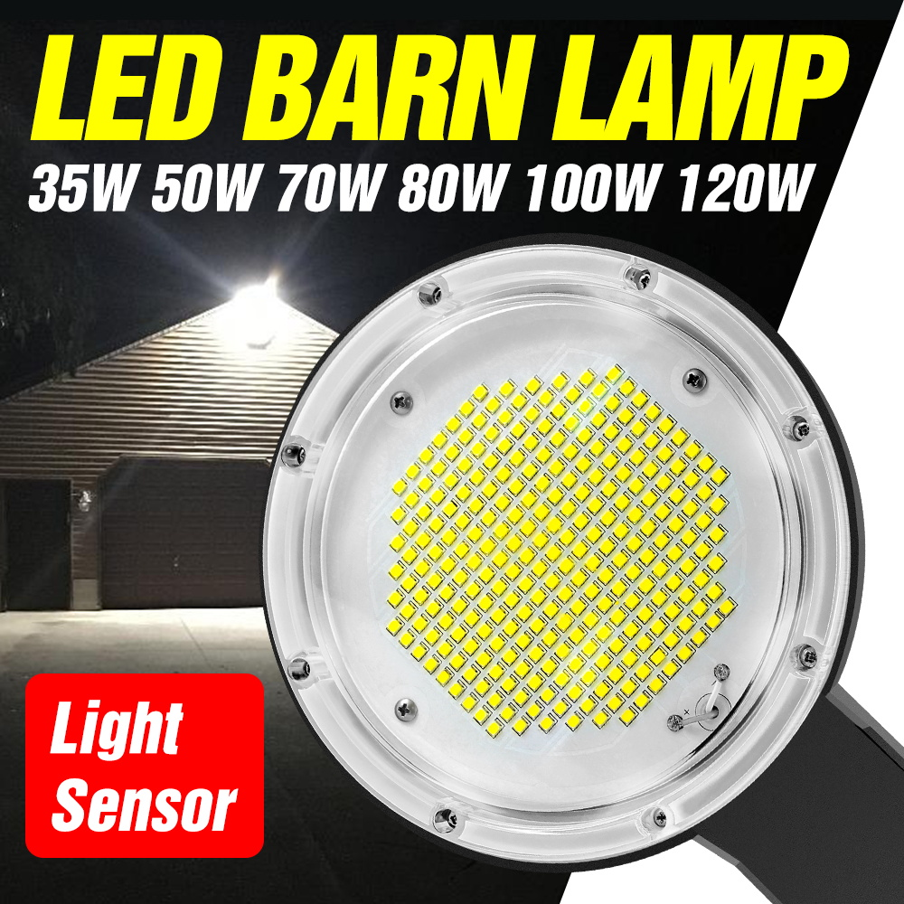 CanLing Led Street Light Bulb 220V Floodlights Led Outdoor Wall Lamps Led Smart Light Sensor Barn Lamp 35W 50W 70W 80W 100W 120W