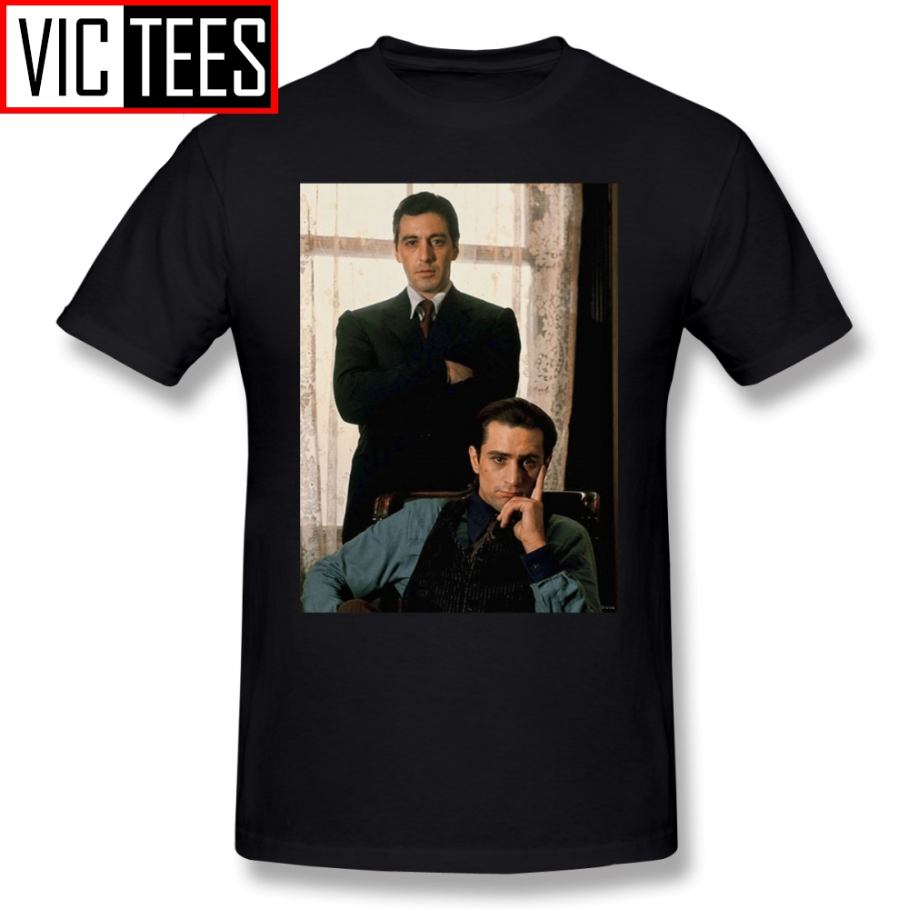 Mens The Godfather T Shirts The Godfather Al Pacino, Robert De Niro T-Shirt 100% Cotton Tee Shirt Cute Casual Male Tshirt