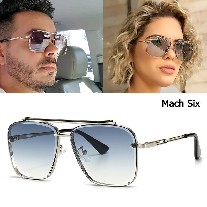 Jackjad 2020 moda clássico mach seis estilo gradiente óculos de sol legal dos homens do vintage design da marca óculos de sol 2a102