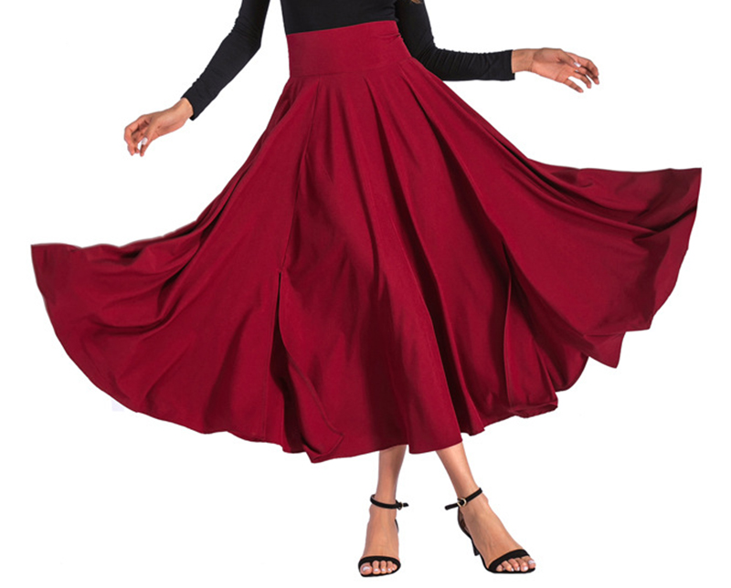 2020 New Fashion  Women Long Skirt Casual Spring  Summer Skirt womens Elegant Solid Bow-knot A-line Maxi Skirt Women Cothes (12)