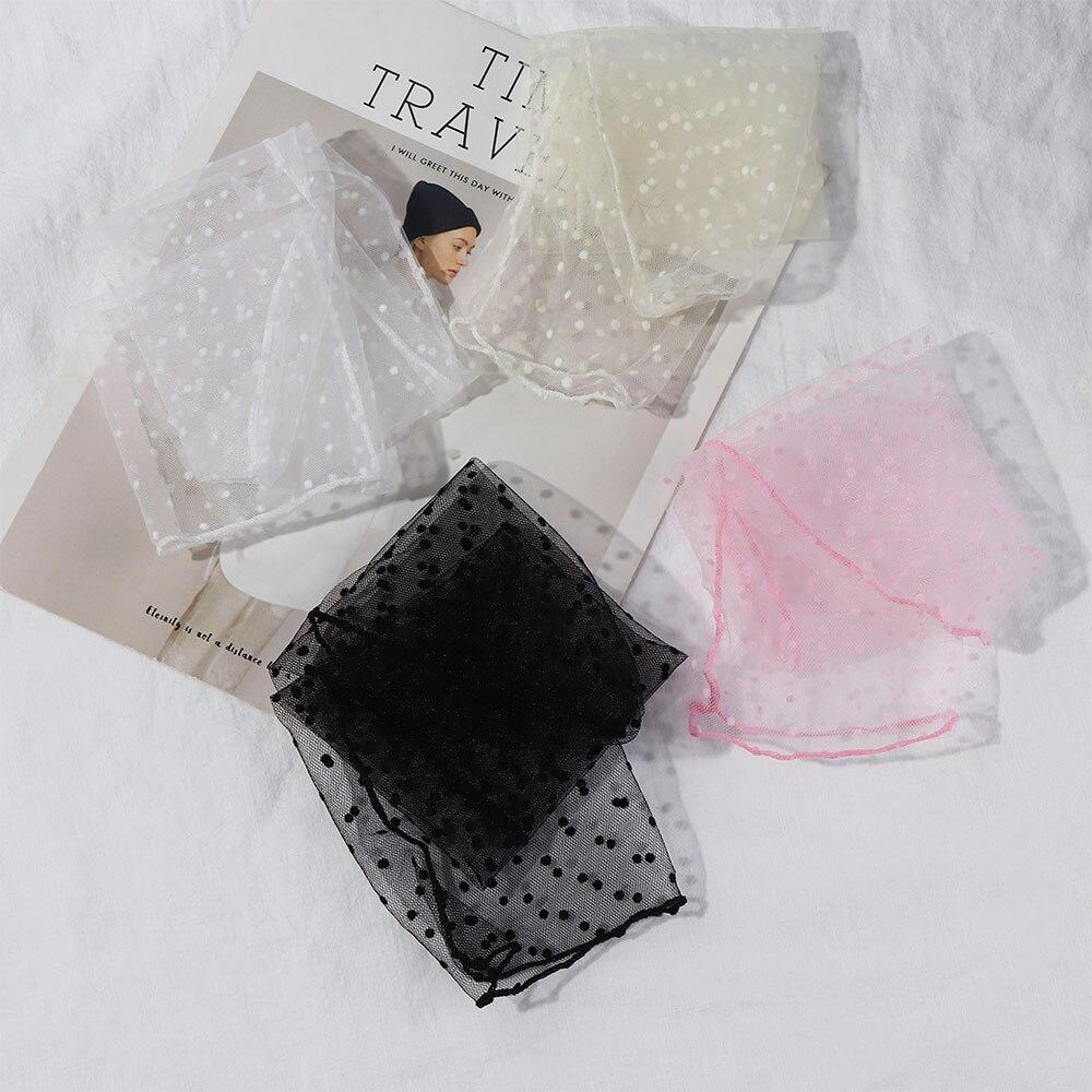 1pair Sexy Dot Lace Socks Women Transparent Mesh Ankle Socks Ladies Ultra-Thin Princess Tulle Socks Female Meias
