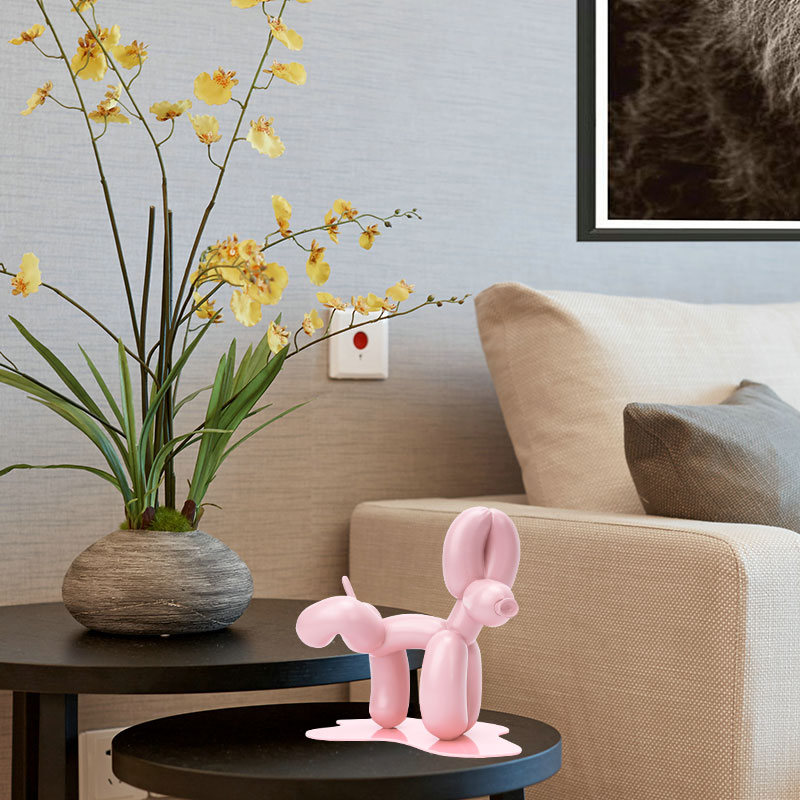 Abstract Peeing Balloon Dog Statue Art Decor Collectible Resin Sculpture Craft Tabletop Just6F
