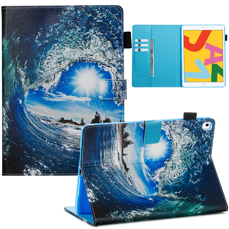 03 Blue Cute Flip Stand Case For iPad 10 2 Case 2019 Smart Tablet Cover For iPad 10